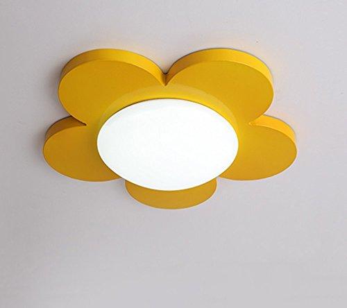 GBYZHMH Zimmer deckenlampe Kinder-/LED Schlafzimmer Lampen/Leuchten/Unterricht kreativ Kindergarten gang Leuchten/Soft Augenschutz Deckenleuchte (Farbe: Gelb, Größe: 37 cm)