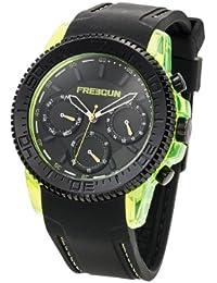 Freegun  - Reloj Analógico de Cuarzo para Hombre, correa de Silicona color Negro