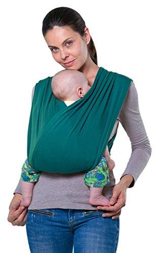 AMAZONAS Babytrage CarryBaby Petrol Bauchtrage 2 Schlaufen stressfrei ohne Knoten 4 Monate - 3 Jahre bis 15 kg