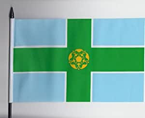 Derbyshire County Medium Hand Fahne 23 cm x 15 cm