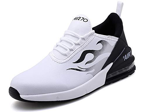GNEDIAE Uomo Air 270 a Collo Basso Sneakers Scarpe da Corsa Sportive Running Basket Sport Outdoor Fitness Respirabile Mesh Bianco 41 EU