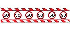 Idea Regalo - Nastro segnaletico decorativo per festeggiare i 50anni decorazione per le feste di compleanno lunghezza: 15m
