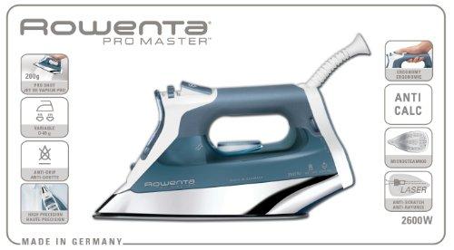Rowenta Pro Master - Plancha 2600 W, capacidad depósito 375 ml, golpe vapor 200 (g/min)