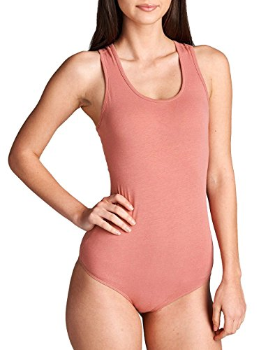 Hollywood Star Fashion Damen Body, auml;Rmellos, Baumwolle, U-Ausschnitt, TRäGer Weiß