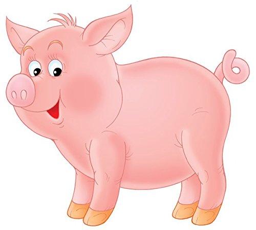 Apalis Wandtattoo No.53 Schweinchen Kinder Tiere Ferkel Schwein Comic