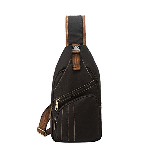 LAIDAYE Sport Der Männer Schulterbeutel Business-Paket Schultertasche Tasche Brust Black