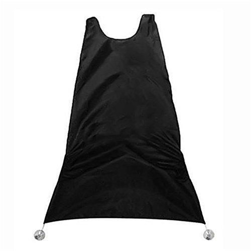 Toruiwa 1X Delantal de baño Hombre Negro Barba Delantal Pelo Afeitado Delantal para el Hombre Impermeable Floral paño de Limpieza del hogar protecter 120 * 80cm