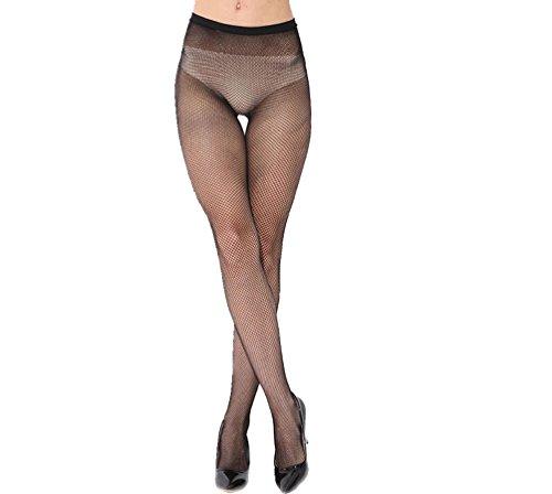 Preisvergleich Produktbild ILOVEDIY Netzstrumpfhose grobe Maschen Strumpf elastisch Hose Kostüm Fasching (Netz-Klein)