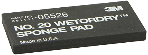 3M WETORDRY 2–3/10,2cm X 5–1/5,1cm X 3/20,3cm Schwamm Pad - Schleifpapier 3m Wetordry