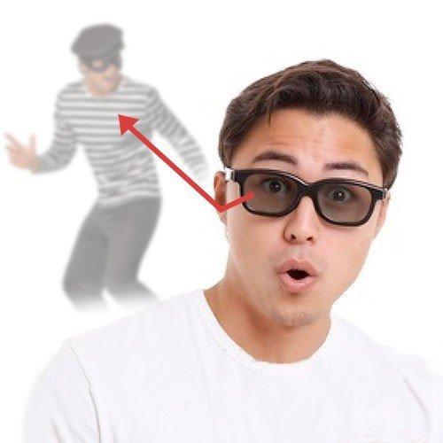 Funtime - Gafas de espía con espejo retrovisor