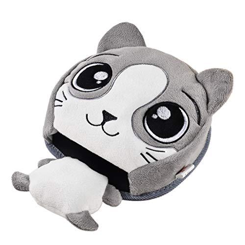 VNEIRW Nette Cartoon Animals Coussin Chauffant électrique USB Power Tapis de Souris Chauffant Tapis de Souris en Peluche Chauffante Tapis de Souris Chauffe-Mains Gris