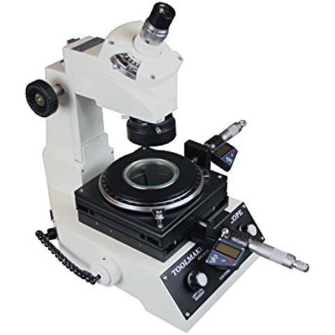 Radical Toolmaker medición LED Microscopio w 1um micrómetro Digital cruz línea ocular