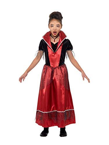Fancy Ole - Mädchen Girl Kinder Vampir Vampire Prinzessin der Dunkelheit Kostüm, Kleid und Halsband, perfekt für Halloween Karneval und Fasching, 104-116, (Dunkelheit Prinzessin Kostüm)