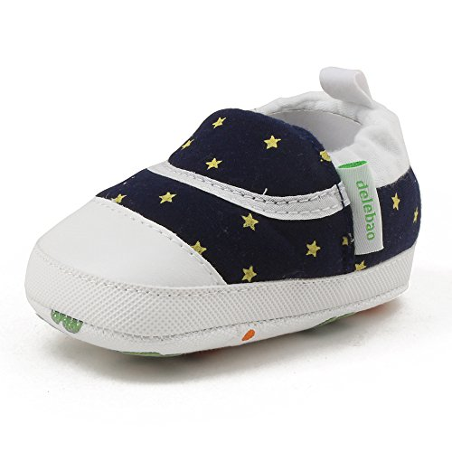 6229ac887eb0cd DELEBAO Chaussures Souples Bébé Chaussure Souple Bébé Fille Premier Pas Chausson  Enfant (Bleu,0