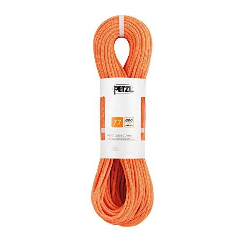 Petzl Erwachsene Verticality Halbseil, orange, 50m