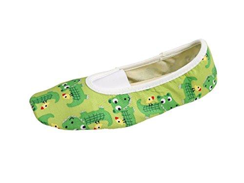 YUMP YUMPZ Kleines Krokodil #19plus - Turnschläppchen Aus Deutschland Gymnastikschuhe/Ballettschuhe – für Mädchen und Jungen -in Gr.24