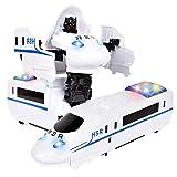 Wovemster Giocattolo del modello dei bambini Deformed - Giocattolo elettronico deformato giocattolo dei bambini del robot WM0869A 1-12, ferrovia ad alta velocità con deformazione elettrica