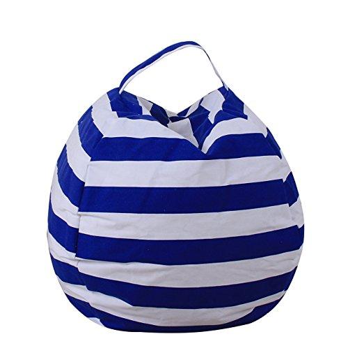Thee, borsa, poltrona a sacco in tela, per bambini, contenitore per peluche, giocattoli, vestiti, trapunte, Tessuto, Dark Blue, large