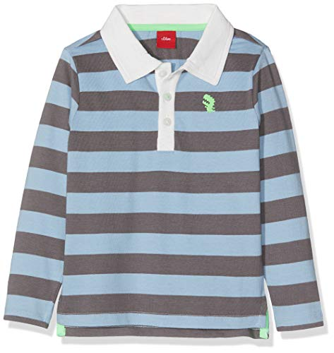 s.Oliver Baby-Jungen Poloshirt , Blau (Blue Knitted Stripes 53g1) , 86 -