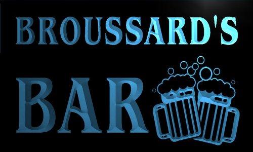 w001249-b BROUSSARD'S Nom Accueil Bar Pub Beer Mugs Cheers Neon Sign Biere Enseigne Lumineuse