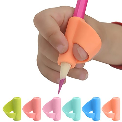 Jannyshop Pencil Grips Aides à l'Écriture pour Enfants 3pcs Grips Grayon en Silicone (Couleurs Aléatoires)