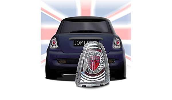 Jom Car Parts Car Hifi Gmbh 82936 Rückleuchten Für Mini Cooper R56 Led Union Jack 11 Chrom Auto