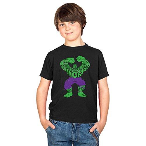 Hulk Kostüm Target (TEXLAB - Angry - Kinder T-Shirt, Größe M,)