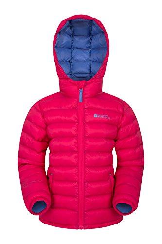 Mountain Warehouse Seasons Mädchen Gefütterte Jacke - Gefütterte Isolierung Winterjacke, wasserdicht Kinderjacke, Taschen - Ideal für den täglichen Gebrauch Rosa 98 (2-3 Jahre)