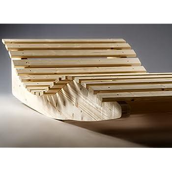 Schwungliege aus akazienholz gartenliege for Schaukelstuhl breit