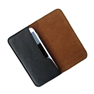 i-KitPit : PU Leather Flip Pouch Case Cover For Micromax Canvas Turbo A250 (BLACK)