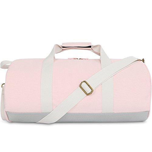 Kleine Reisetasche für Männer und Damen - Sporttasche Segeltuch Trainingstasche - Travel Duffel Bag & Sports Gym Bag (2.0 Rosa)