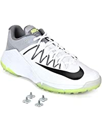 Nike Domain 2 Cricket Shoes - with Spikes - White/Grey (UK9 (US10 - EUR 44))