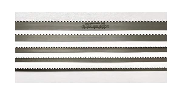1070mm x 0,4mm 5ZpZ Bands/ägeblatt mit geh/ärteten Zahnspitzen Uddeholm Schwedenstahl 1070mm-2500mm x 10mm