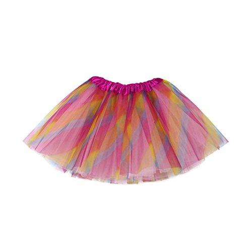 Verkauf Authentische Zum Kostüm - Oyedens Baby Mädchen Kinder Tüllrock Tutu Ballettrock Minirock Faltenrock, Modern Ballett Tanzkleid Ballettkleid Ballettröckchen Rock Clubwear Party-Rock Classic 3-10 Jahre - One Size (Mehrfarbig)