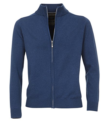 CASAMODA Herren Strickjacke Regular Fit 004250/41 Blau (Blau 146)
