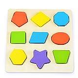 Vaycally Tangram Holzpuzzles Lernspiele Baby Puzzle Intelligenz Form Klassifizierung HolzspielzeugGeburtstag Junge Geschenk Puzzle Holz Spielzeug