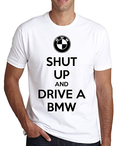 Shut Up And Drive BMW Men's T-Shirt Medium (Burnout-t-shirt White)