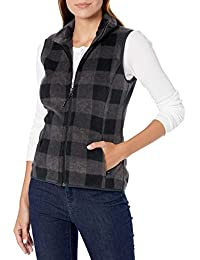 Amazon Essentials, Gilet da donna in pile, con cerniera intera