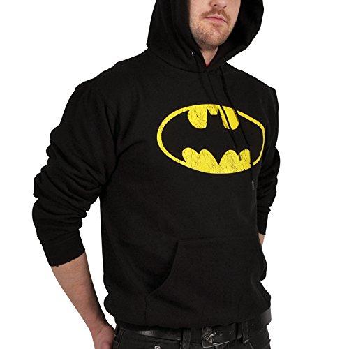 Preisvergleich Produktbild Batman Logo Kapuzenpulli schwarz M