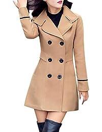 347d544b01c25 TITAP M-3XL Women Coat Fashion Lapel Button-Down Jacket Wool Double  Breasted Coat