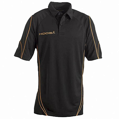 KooGa Pro Technologie Teamwear Polo-Shirt Black/Gold