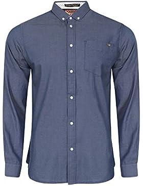 Tokyo Laundry -  Camicia Casual  -  Vestito modellante  - Basic - Classico  - Maniche lunghe  - Uomo