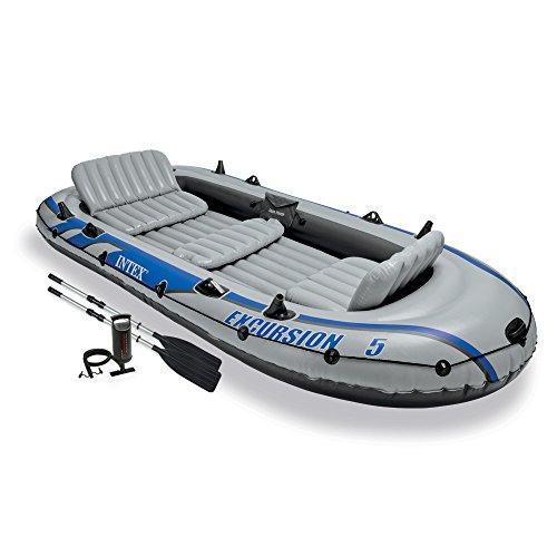 Schlauchboot mit 5 Plätzen, inkl. Aluminiumruder und Pumpe