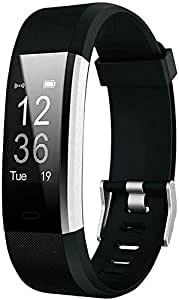 SHOPTOSHOP I D 115 Plus Bluetooth Fitness Band Smart Watch Tracker with Heart Rate Sensor Activity Tracker Waterproof Body Functions Like Steps and Calorie Counter, Blood Pressure, OLED Touchscreen