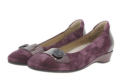 Chaussure femme confort en cuir Piesanto 9725 ballerine confortables amples Burdeos