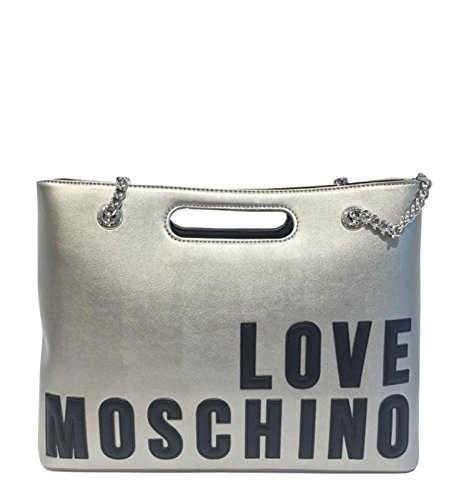 Love Moschino Borsa New Lamb Pu Argento
