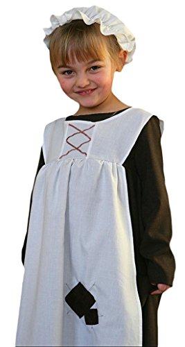 Halloweenia - Mädchen Bauernmädchen Kostüm, Karneval, Fasching, Halloween, Mehrfarbig, Größe 134-146, 9-11 - Viktorianischen Ära Kostüm