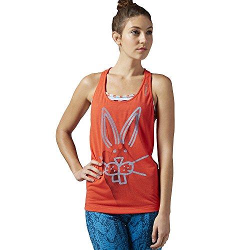 Reebok Damen Ärmelloses Shirt Yoga Rabbit Tank, Laser Red, XL Preisvergleich