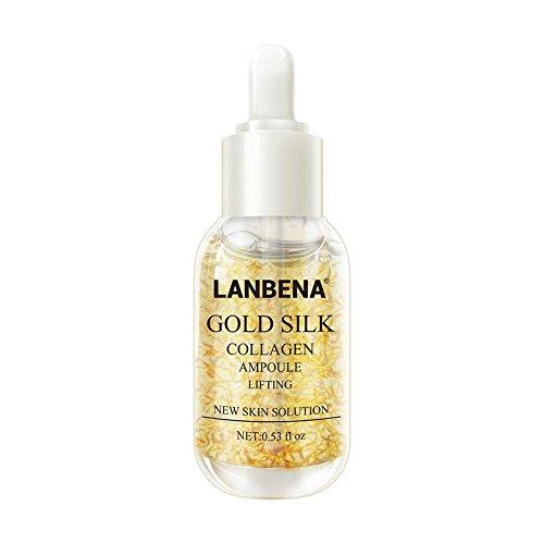 Gesichtsserum Hyaluronsäure-Gold Silk Collagen Ampulle Essenz Sommersprossen Entfernen Whitening...