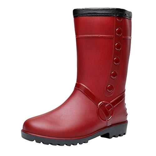 ➤Refill➤Regenstiefel Damen, Gummistiefel Damen Kurz Frauen Regenstiefel Stiefeletten Gartenarbeit Mode Outdoor Boots Chelsea Boots rutschfeste Ankle Stiefeletten